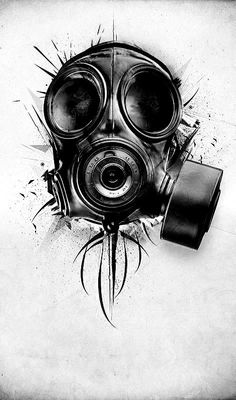 Death Blooms – Graffiti World Gas Mask Drawing, Gas Mask Art, Masks Art, Tattoo Design Drawings, Tattoo Sketches, Cool Drawings, Art Sketches, 4 Tattoo, Mask Tattoo