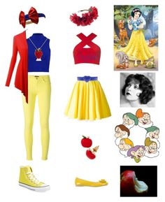 """""""Disney: Snow White"""" by pjprincess14 on Polyvore featuring PrimaDonna, 7 For All Mankind, Converse, Philipp Plein, Motel, Moschino Cheap & Chic, Rock 'N Rose and Amanda Rose Collection"""