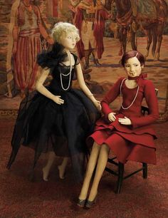 Curtain Call- The Collection of Billie Nelson: 59 Italian Felt Salon Doll by Lenci,Inspired by Actress Clara Bow