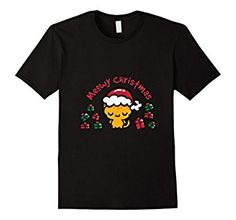 Yellow Meowy Cat Merry Christmas T-shirt Funny Christmas, Ugly Christmas Sweater, Merry Christmas, Aunt T Shirts, Fashion Brands, Cat, Amazon, Yellow, Clothing