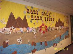 Gold Rush Bulletin Board for Klondike Elementary School library