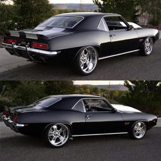 Oh my! Custom Muscle Cars, Chevy Muscle Cars, Custom Cars, Vintage Cars, Antique Cars, Classic Camaro, Black Truck, Chevy Girl, Pony Car