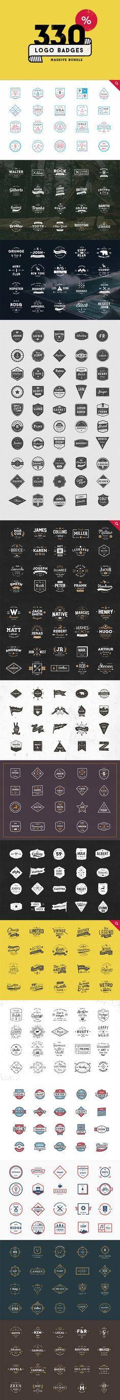 330 Logos Bundle - off Ink Logo, Logo Branding, Typography Logo, Graphic Design Typography, Logos, Branding Design, Vintage Logo Design, Vintage Branding, Badges