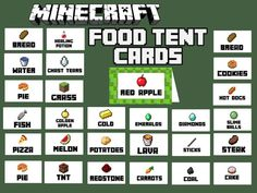 Exceptional image regarding minecraft food labels printable