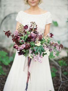 Inviting purple bouquet: http://www.stylemepretty.com/2015/05/18/purple-garden-glam-wedding-inspiration/   Photography: Jessica Burke - http://www.jessicaburke.com/