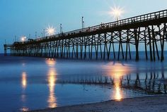 Carolina Beach, NC!! Saw this pier out my window every morning for  over 2 years♥♥♥