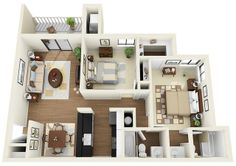 50 Two 2 Bedroom Apartment House Plans Pinterest Bedroom Apartment Apartments And Bedrooms