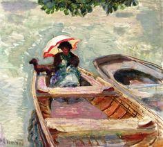 dappledwithshadow: Boat Ride, Pierre Bonnard c. 1913                                                                                                                                                                                 Plus