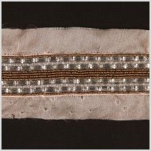 Taupe/Crystal Silk Sequin Beaded Trim