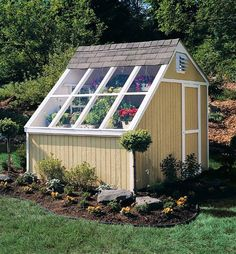 Grow plants year round. This solar shed makes a terrific potting shed and storage space for your gardening tools.