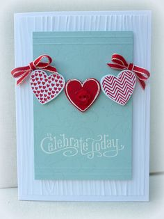 Celebrate Today; make this in a monochrome white or cream or bridesmaids colors and makes great wedding card