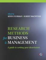 Research Methods for Business and Management : A Guide to Writing Your Dissertation