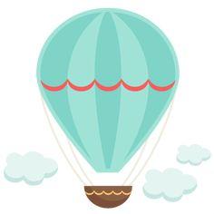 Vintage Hot Air Balloon SVG cutting file for scrapbooking hot air balloon svg cut files cute svg cuts cricut