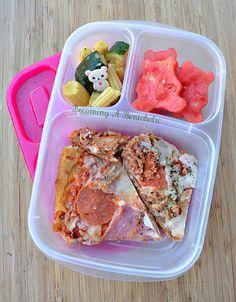 Becoming A Bentoholic: Leftovers on Fridays - Pizza & Bears #EasyLunchboxes