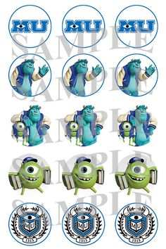 Monster's University Bottle Cap Images