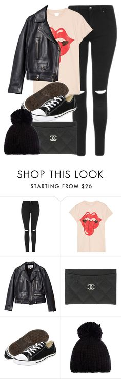 """""""Untitled #11854"""" by vany-alvarado ❤ liked on Polyvore featuring Topshop, MadeWorn, Acne Studios, Chanel, Converse and Barts"""