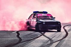 BMW M3 Retro Car Drift Poster