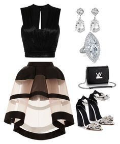 """""""Untitled #97"""" by knnekah on Polyvore featuring Louis Vuitton, Giambattista Valli, Isabel Marant, Delpozo, Kenneth Jay Lane, women's clothing, women, female, woman and misses"""