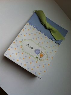 Geschenktasche aus Briefumschlag gefertigt / giftbag made out of an envelope