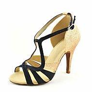 4c873177ff9 Women's Latin Shoes / Ballroom Shoes / Salsa Shoes Satin Sandal Buckle /  Ribbon Tie Customized Heel Customizable Dance Shoes Yellow / Fuchsia /  Purple