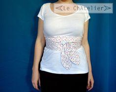 e950e121b103 Ceinture femme large japonais OBI bandeau large longue accessoire idée  cadeau textile coton tour motifs imprimés corset couleur blanche, uni sur  une