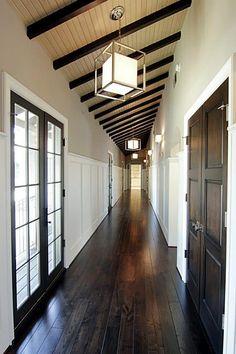 Dark floors and doors