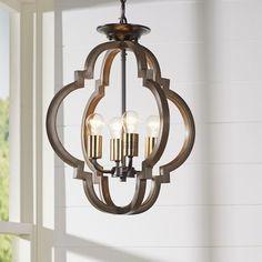 Laurel Foundry Modern Farmhouse Freeburg 4-Light Foyer Pendant & Reviews | Wayfair