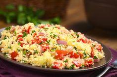 Couscoussalade met tomaten en mozzarella