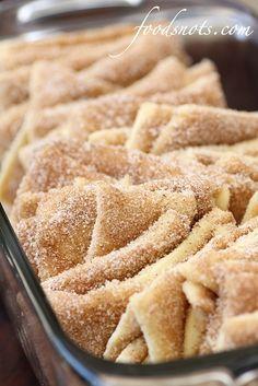 Elephant Ears (Cinnamon and Sugar Pull-Apart Bread)-