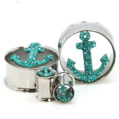 Stainless Steel Tiffany Anchor Ear Gauges LOVE THEM! I would totally gauge my ears again just to wear these!