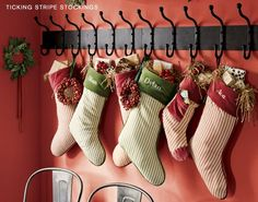 1000 Images About Hanging Christmas Stockings Without A