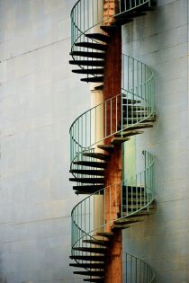 Stair et haut - Eric Forey Grey Stuff, Fire Escape, City Painting, Staircase Design, Stairways, Architecture Details, Photo Art, Facade, Building