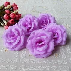 50 for $20, light and dark purple.  Lot-10-50-10cm-Wedding-Fake-Roses-Artificial-Silk-Flower-Head-Home-Party-Decor