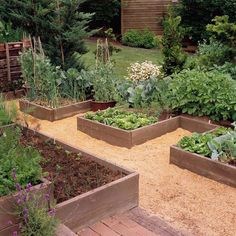 Design Tip: Come Up with a Pattern  Raised beds are often set up as squares or rectangles that run parallel to one another. But you can add ...
