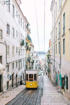 Famous tram 28 in Lisbon, a great way to see the sights