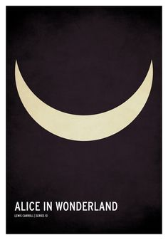 Alice In Wonderland / 19 Minimalistic Posters Of Your Favorite Childhood Stories by Christian Jackson (via BuzzFeed)