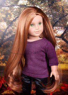 american girl doll custom elizabeth aquamarine marie grace