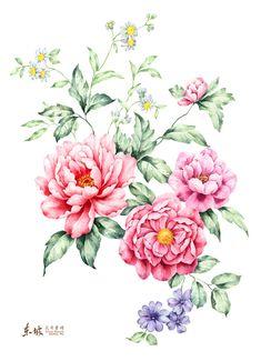 漂亮的手绘花