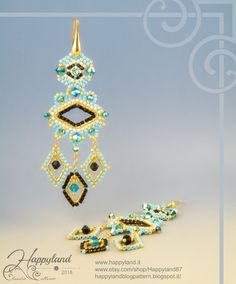 Miguel Ases style! Klimt earrings Kit and tutorial step by step available
