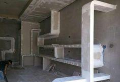 ...... Drywall, Ceiling Decor, Ceiling Design, False Ceiling Bedroom, Plasterboard, Pop Design, Floor Space, Black House, Steel Frame