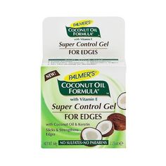 Palmer's Coconut Oil Formula Super Control Gel for Edges ($4.99) ❤ liked on Polyvore featuring beauty products, haircare, styling products and hair styling products