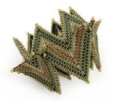 Laurel Kubby Fortuneteller Bangle, Contemporary Geometric Beadwork 2012, Kate McKinnon