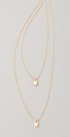 Gorjana - layered chevron necklace