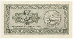5 Lira 1945 (Segelboot mit Stern) Slowenien Istrien, Fiume und Slowenische Küstenregion