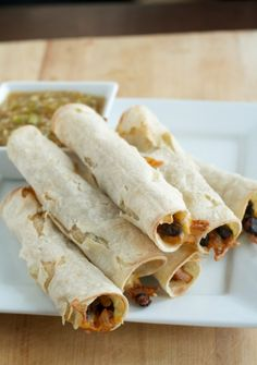Baked Black Bean Taquitos - So Yummy!! Just made them 7/1/2013~