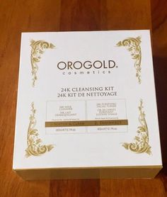 ORO GOLD 24K 2-Step Cleansing Kit Milk Cleanser&Purifying Facial Toner 80ml each #OROGOLDCosmetics