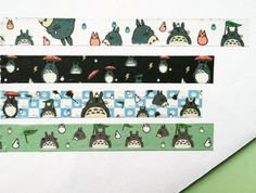 Any manga fan will appreciate these 4 Totoro washi tape patterns. You can either choose one or have them all! :) DETAILS * The price is for one