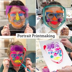 On Thursday I began class telling my college students we were going to face-paint in the lab. Their actual faces: 😳. School Art Projects, Projects For Kids, Art School, Reggio Emilia Classroom, Art Classroom, Self Portrait Kids, Plexi Glass, Arts Ed, Process Art