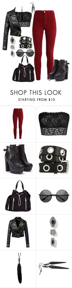 """""""Punk"""" by ayeeeitsfatso ❤ liked on Polyvore featuring Hanky Panky, ASOS and Fiorelli"""