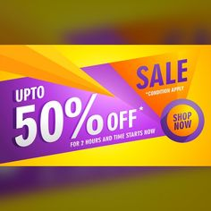 Colorful voucher with geometric shapes  Free Vector